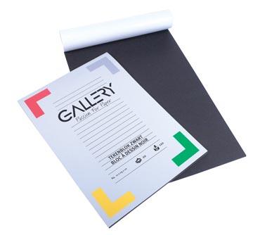Gallery zwart tekenpapier, ft 21 x 29,7 cm, A4, 120 g m², 20 vel