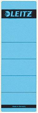 Leitz rugetiketten ft 6,1 x 19,1 cm, blauw