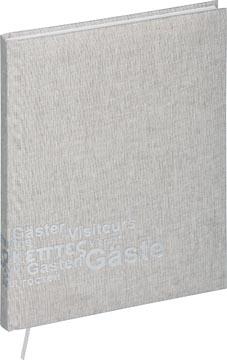 Pagna gastenboek, lichtgrijs