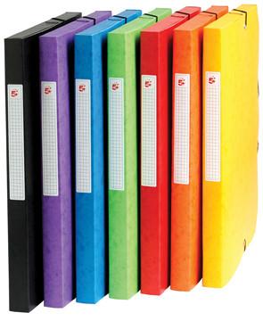 Pergamy elastobox, rug van 2,5 cm, geassorteerde kleuren