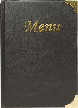 Securit menukaart Basic, ft A5, zwart