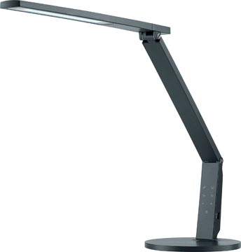 Hansa bureaulamp Vario Plus, LED-lamp, antraciet