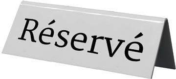 Securit tafelbordje 'Reservé', pak met 5 stuks