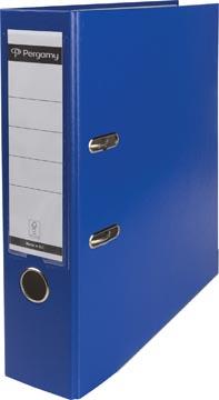 Pergamy ordner, voor ft A4, uit PP en papier, rug van 8 cm, blauw
