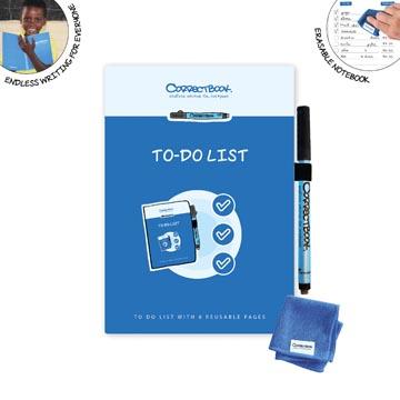 Correctbook Scratch To-Do: uitwisbaar / herbruikbaar notitieboek, 8 Pagina's (4 vel)