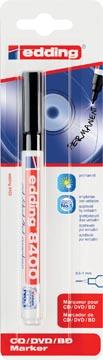 Edding permanent marker voor CD/DVD/BD e-8400 zwart, op blister