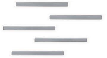 Durable Durafix zelfklevende magneetstrook, 210 mm, pak van 5 stuks, zilver