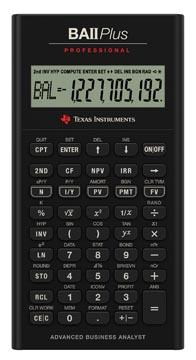 Texas financiële rekenmachine BA II Plus Professional