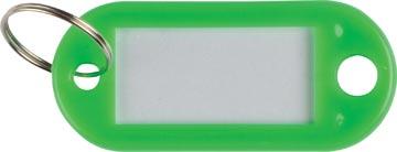 Q-Connect sleutelhanger, pak van 10 stuks, groen