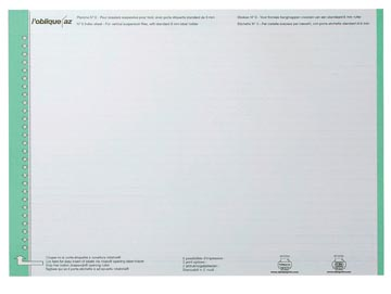 Elba etiketten voor hangmappen voor laden groen, 1 vel met 27 etiketten
