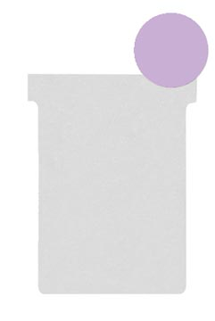 Nobo T-planbordkaarten index 2, ft 85 x 60 mm, violet