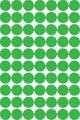 Apli ronde etiketten in etui diameter 19 mm, groen, 560 stuks, 70 per blad